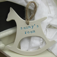 Personalised Ceramic Hanging Rocking Horse