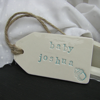 Personalised Bottle Design Ceramic Gift Tag