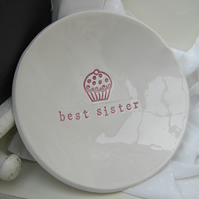 Personalised Cupcake Design Ceramic Dish