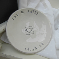 Personalised Small Wedding Dish Gift