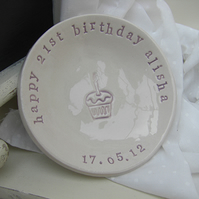 Personalised Small Birthday Dish