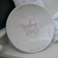 Personalised New Baby or Christening Dish