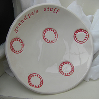 Personalised Spotty Design Bits and Bobs Dish