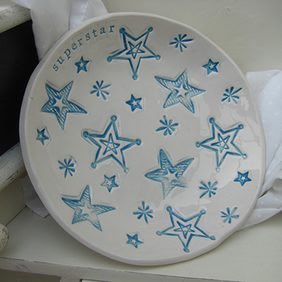 Personalised Star Design Ceramic Dish
