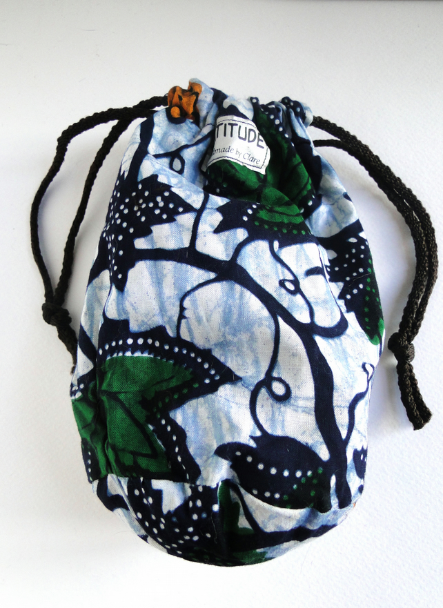 Sale Batik Grape Pattern Drawstring Bag Purse