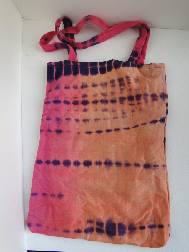 Sale Tie Dyed  Bag Purse Pink Orange Purple