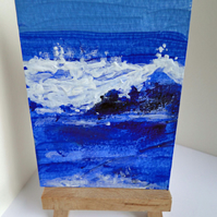 ACEO Art Card Wave 6 Original Acrylic Painting