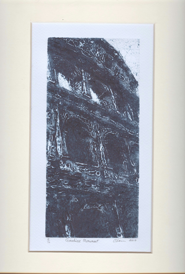 Grandoise Monument Limited Edition Collagraph Print Colosseum Art