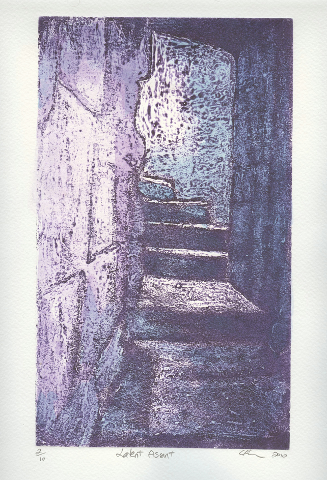 Latent Ascent Limited Edition Original Collagraph Print Art