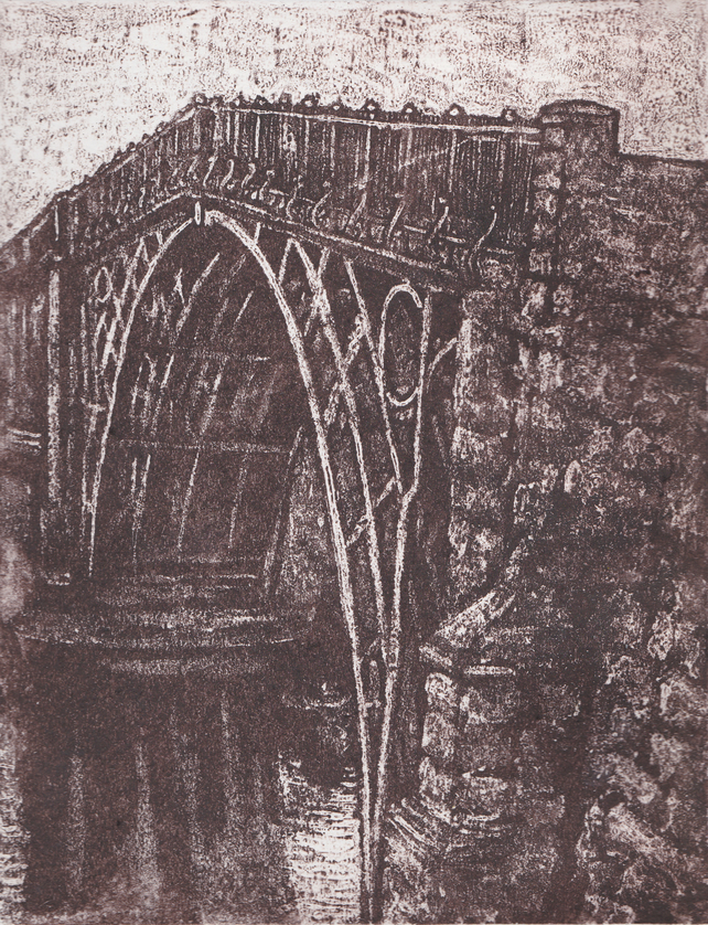 Cast Ironbridge Limited Edition Hand Pulled Collagraph Print Shropshire