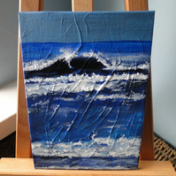 Seascape Wave 6 Original Acrylic Painting on Canvas Board OOAK Sea Art