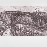 Ironbridge Limited Edition Hand Pulled Collagraph Print Shropshire