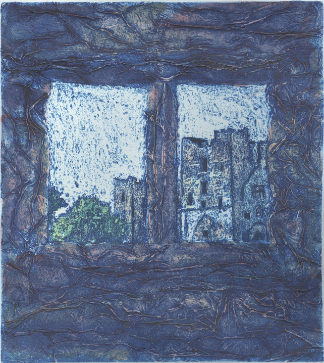 Ludlow Castle One Off Hand Pulled Collagraph Print
