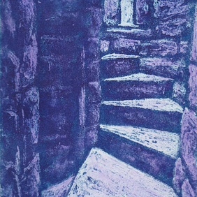Twisting Upwards Limited Edition Original Collagraph Print Art Heritage