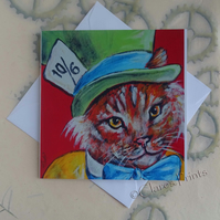 Mad Catter Art Greeting Card From my Original Painting