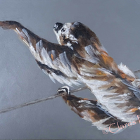Sloth Reach Painting Art Original Acrylic Animal Painting on Canvas OOAK