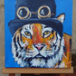 Steampunk Tiger Art Original Acrylic Painting