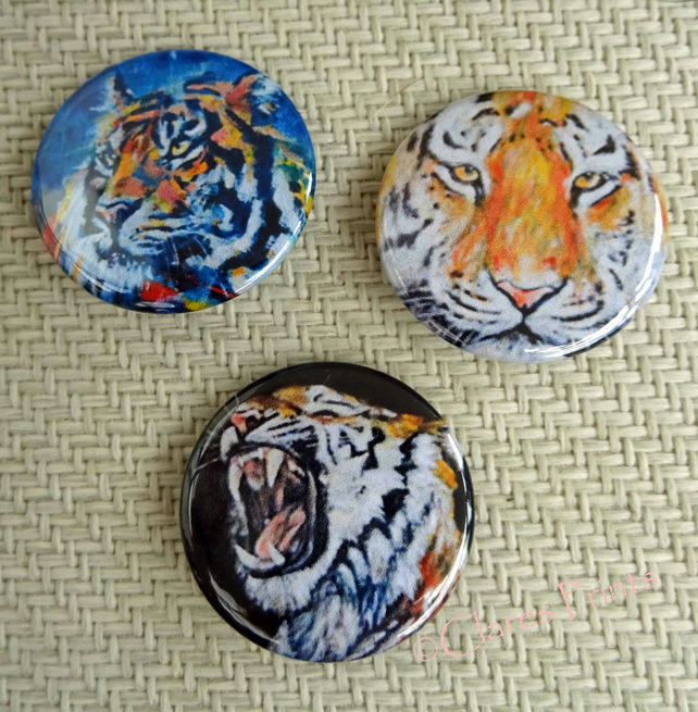 Tiger Art Cat Badges Buttons Cosplay