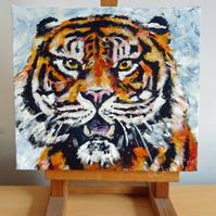 Tiger Art Original Acrylic Painting on Canvas OOAK