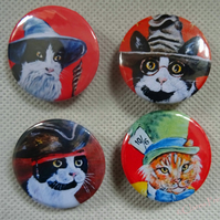 Film Cats Animal Art Badges Buttons Pirate Cosplay