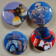 Steampunk Animal Art Badges Buttons Pirate Cosplay