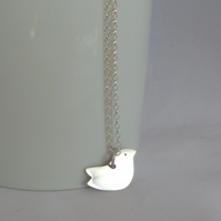 Sterling Silver Love Bird Pendant