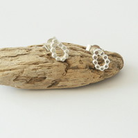Sterling Silver Bobble Handmade Teardrop Earrings