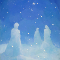 The Three Snowmen, Signed Fine Art Print 10x7 inches