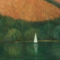 Sailing at Trellisick, Cornwall, Signed Fine Art Print 10x7 inches
