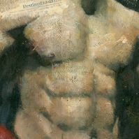 The Boxer, Male Figure Painting Signed Fine Art Print 15.5x11 inches