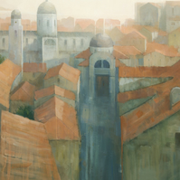 Dubrovnik Rooftops, Signed Fine Art Print 10x7 inches