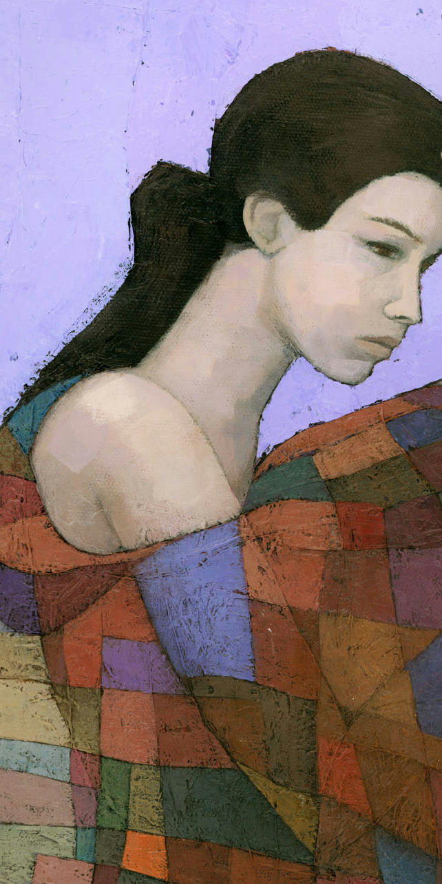 Solace (detail), Signed Giclee Print 10x5 inches