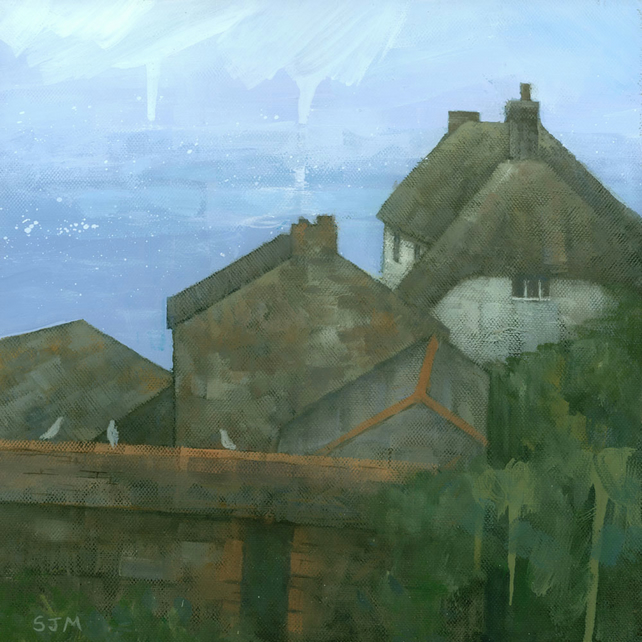 Cadgwith Rooftops, Original Painting