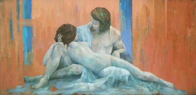Acis and Galatea, Original Figure Painting