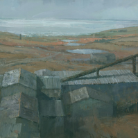 Geevor Tin Mine, Cornwall, Signed Giclee Print 20x10 inches