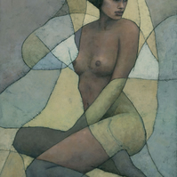 Sonora, Female Nude Figure, Signed Giclee Print 16x10 inches