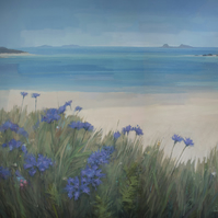 Scillies Beach, 11x11 inch print