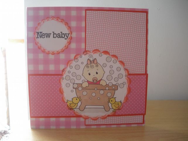 New baby girl card; baby girl; new baby