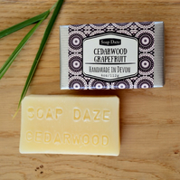 Natural Handmade Cedarwood and Grapefruit soap