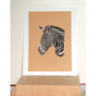 Zebra Head Fine Art Print