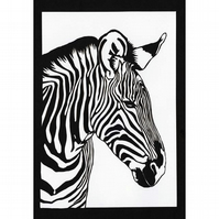 Zebra Head Original Paper Cut