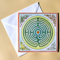 Greetings Card - Blank - Labyrinth