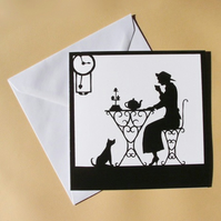 Greetings Card - Blank - Tea