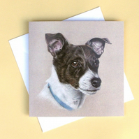 Greetings Card - Blank - Jack Russell Terrier Dog Portrait