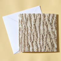 Greetings Card - Blank - Ash Tree Bark