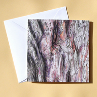 Greetings Card - Blank - Yew Tree Bark