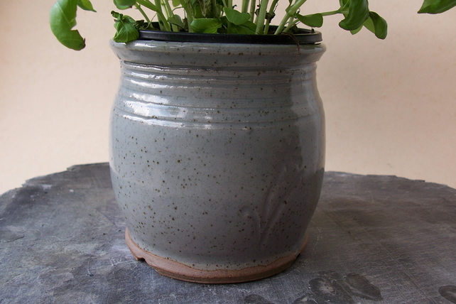 Herb or Flower Pot. Stoneware ceramics pottery