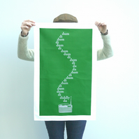 The Archers Tea Towel Dish Kitchen Screen Printed Gift BBC Radio 4 Fan