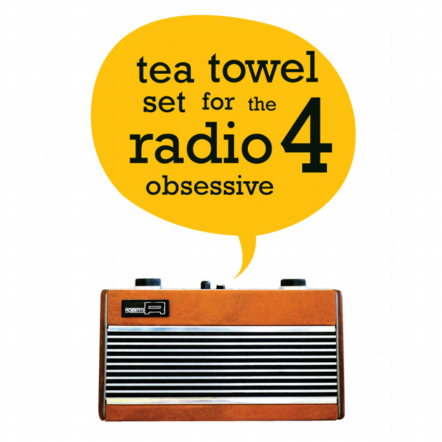 SECONDS SET of 2 Tea Towels BBC Radio 4 Shipping Forecast The Archers Gift