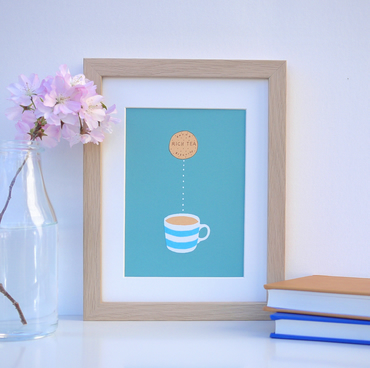 Biscuit Dunk Tea Mug Cup Original Limited Edition Small Screenprint Kitchen